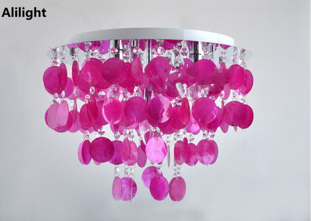 Paarse Slaapkamer Lamp : Moderne mode paars schelpen plafondlamp slaapkamer studie decor