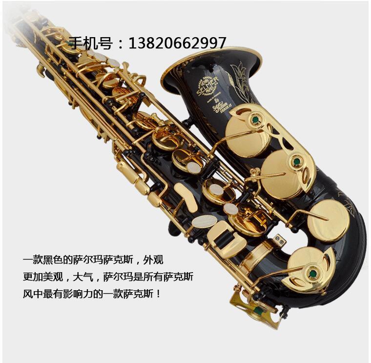 SAS-802 New Sale Black Alto Saxophone Eb Sax mouthpiece Black Nickle Gold Key E- flat Saxfone with mouthpiece case,reeds,gloves