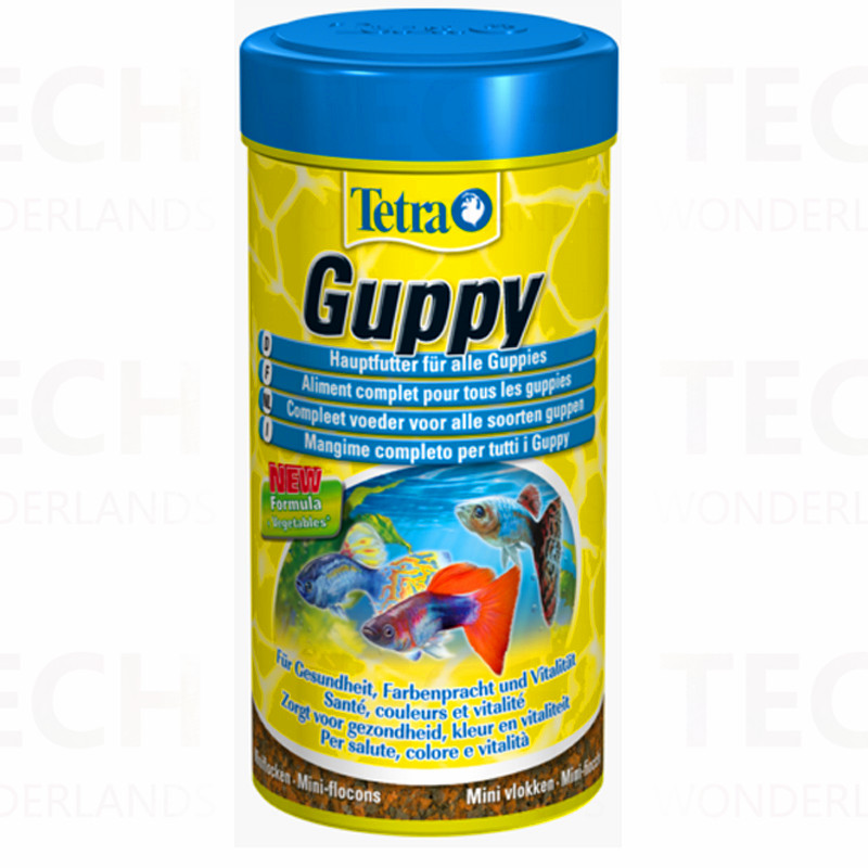 Tetra Guppy Fish Food Miniature Flakes Style Top Quality Made in Germany 30g/75g