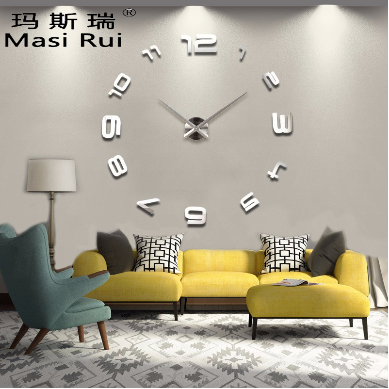 Big Mirror Wall Clock Modern Design Large Decorative Black Clocks Wall  Watch Wall Stickers, Unique Gift, From Reliable Gift Matches Suppliers On  Joanna ... Part 37