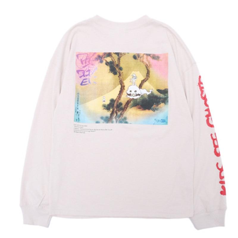 NEW Takashi Murakami Graffiti Tee Kids See Ghosts T-Shirt Kanye West Shirt
