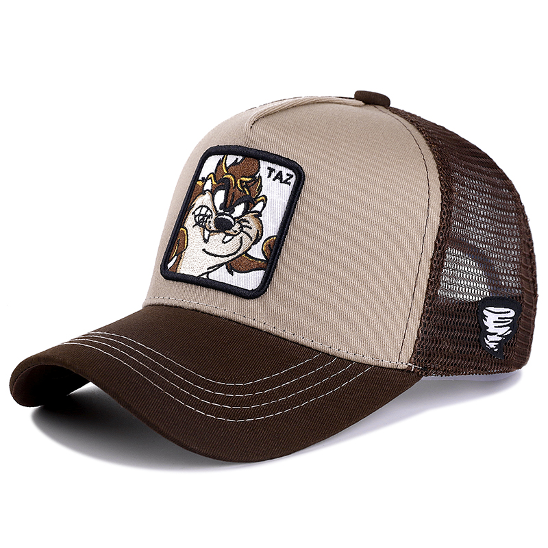 New Brand Anime TAZ KHAKI Snapback Cap Cotton Baseball Cap Men Women Hip Hop Dad Mesh Hat Trucker Dropshipping