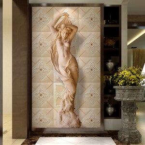 Настенная живопись в европейском стиле, статуя человека, обои для стен, Декор стен гостиной