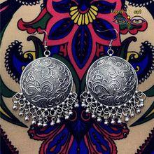 Индийский Ретро Племенной клетка Подвески Серьги, хиппи Богемия ветер на Ближнем Востоке Таиланд Непал Индия Женская Tribe Пакистан