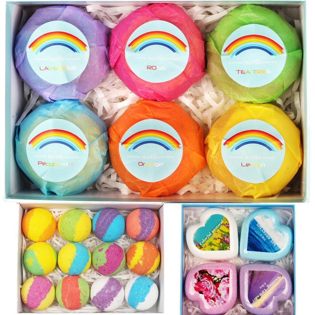Bath Bombs Gift Set Moisturizing Essential Oil Round SPA Relax Tool Used To Enhance Your Bath Time Experience.