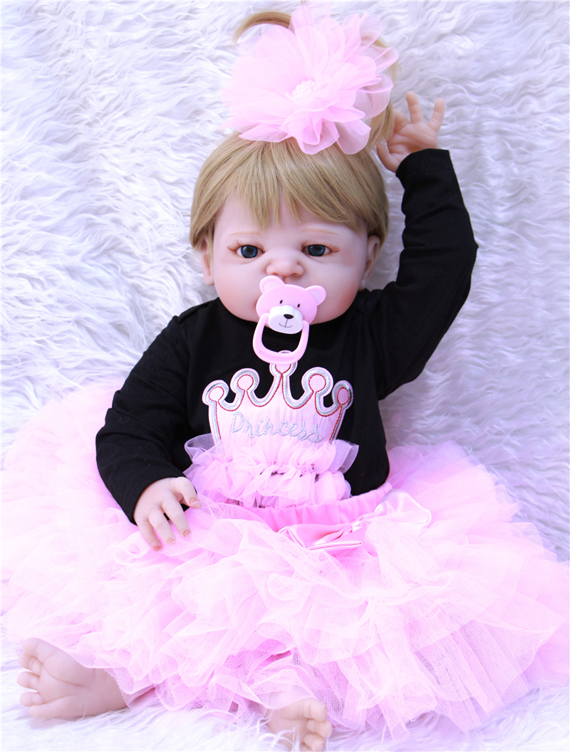 22 Full silicone reborn babies dolls reborn-baby adorable handmade princess bebe bathe playmate  best gift bonecas brinquedos22 Full silicone reborn babies dolls reborn-baby adorable handmade princess bebe bathe playmate  best gift bonecas brinquedos