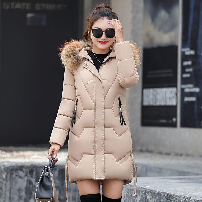Avec kaki Hiver Et Vestes bourgogne Chaud Couleurs Manteaux Outwear Un Pour De Ouatée Capot Parkas Col Fourrure Femmes Grand Faux camel 2018 rouge 6 Noir blanc q71wSdnEx