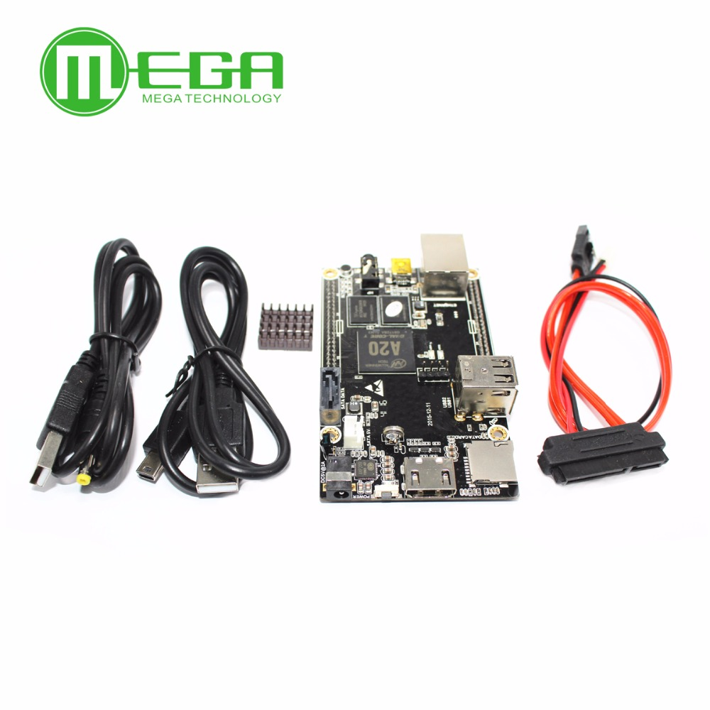 Image 2 - 1pcs PC Cubieboard A20 Dual core Development Board , Cubieboard2 dual core with 4GB Nand Flash-in Integrated Circuits from Electronic Components & Supplies