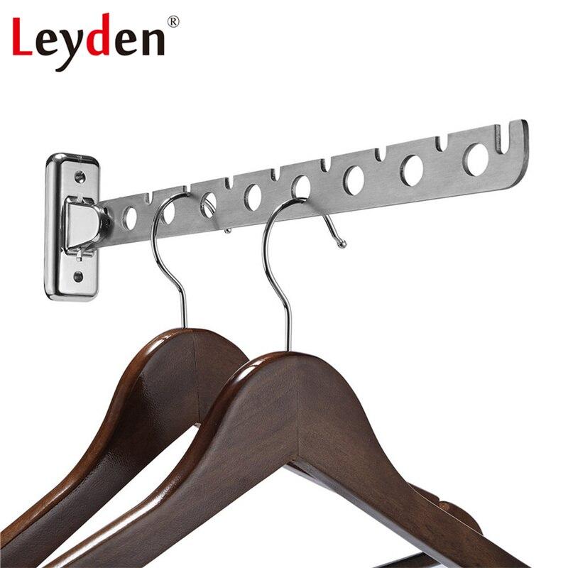 Leyden D'oscillation D'acier Inoxydable Cintre Sèche-Linge Mural Bras Oscillant Vêtements Multiples Crochet Accessoire De Salle De Bain