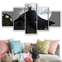 Home Decorative Canvas Painting 5 Pieces Batman Arkham City Video Game Pictures Wall Art Prints Modular Poster For Living Room цены