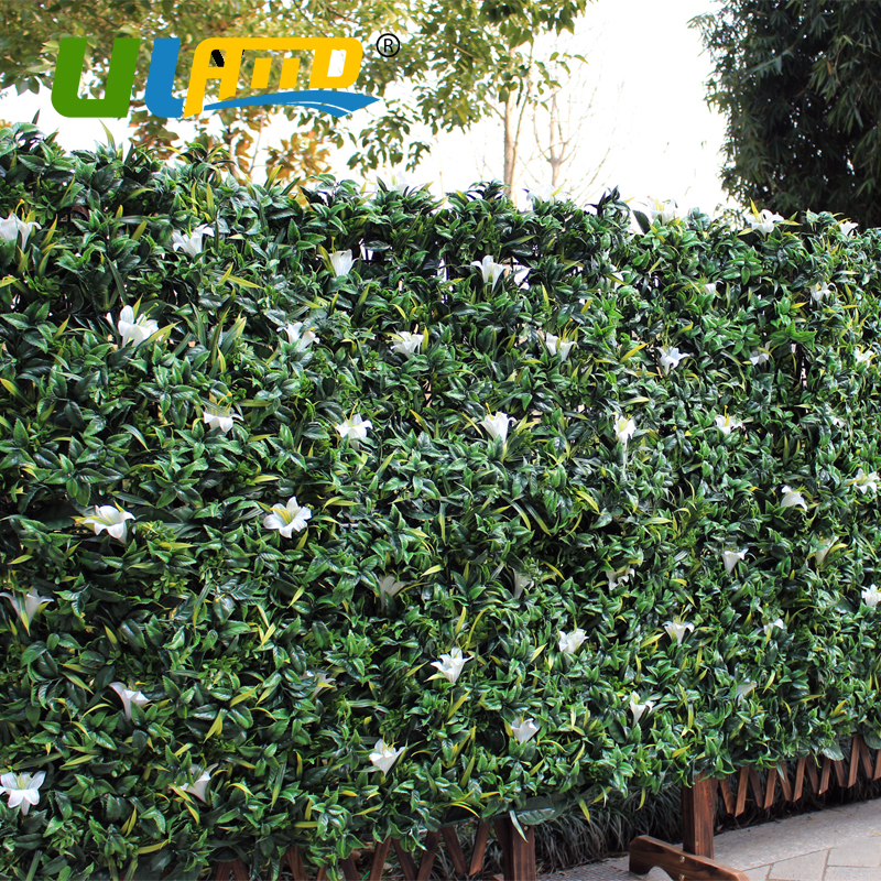 uland outdoor artificial shrub plants mat 1x1m balcony plastic sythenic grass fence panel garden diy decoration
