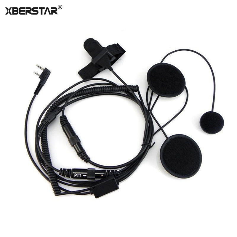 2 PIN Helmet Motorcycle Race Headset Headphone Earpiece For Kenwood Baofeng UV-5r gt-3 gt-3tp Ham Walkie Talkie Two Way Radio кольцо коюз топаз кольцо т242015561