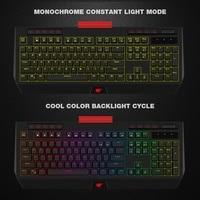 HAVIT Mechanical Keyboard USB Wired 104 Keys Blue Switch Gaming Keyboard Multifunctional Full Color RGB Side Light Phone Holder
