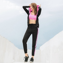 5 Piece Set Yoga Exercise Clothing Athletic Sportwear Sports Wear Sport Women Warm Activewear Hiking Woman Top Running Jogging