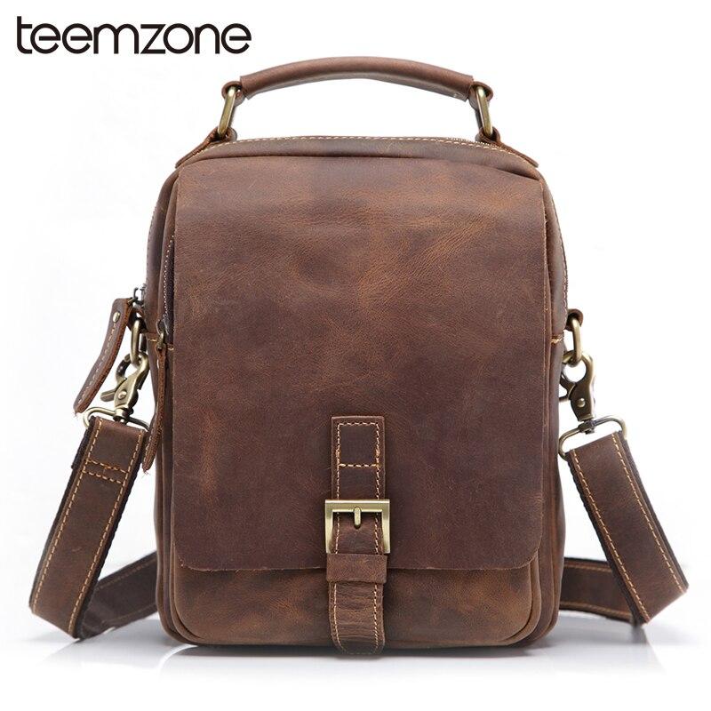 Européenne de Style Hommes Crazy Horse En Cuir Vintage Zipper Moraillon  Zipper Messenger Bag Épaule Attache Portefeuille FashionTrend T8063 7f37099f18b