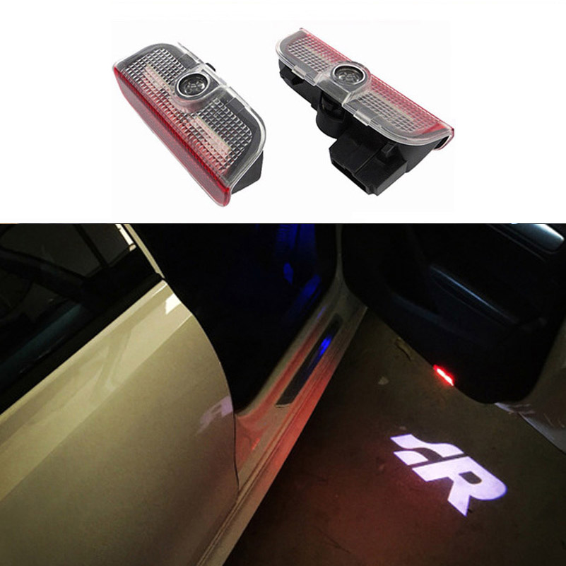 2pcs LED Door 3D shadow Car light logo projection for Volkswagen VW TIGUAN CC Golf 5 6 7 MK6 JETTA MK5 PASSAT B6 B7 Touareg 1x led luggage compartment trunk boot lights 12v for vw caddy eos golf jetta passat cc scirocco sharan tiguan touran touareg t5