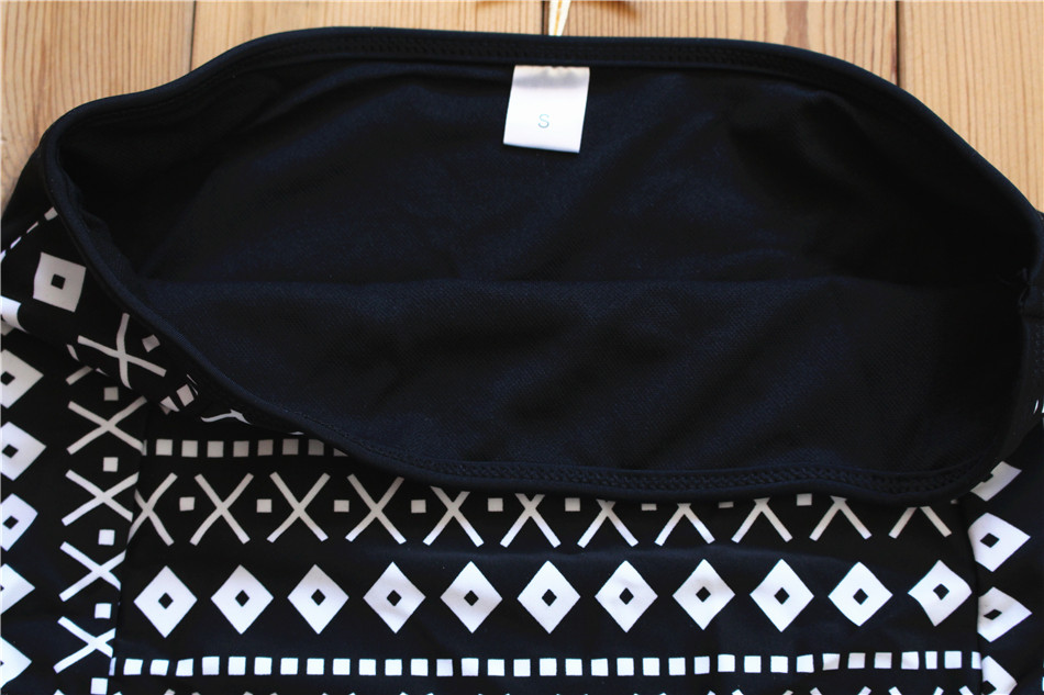 Wingteng Retro Biquni Badeanzug Reißverschluss Tankini Hohe Taille - Sportbekleidung und Accessoires - Foto 5