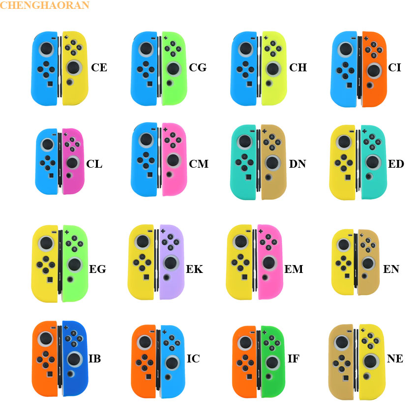 (3) 16Colors Soft Case For Nintendo Switch Joy-con Silicone Case NS Switch Controller Handle Joy Con Faceplate Protective Cover