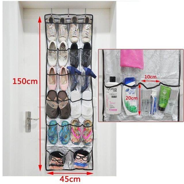 Hot 22 Pockets Door Hanging Living Room Storage Bag Shoe Rack Wall Shoes Organizer Hanger