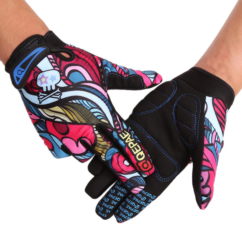 Qepae Cycling Gloves Windproof Racing Riding Sports Gloves Bike Bicycle Thermal Motorcycle Skiing Full Finger Gloves