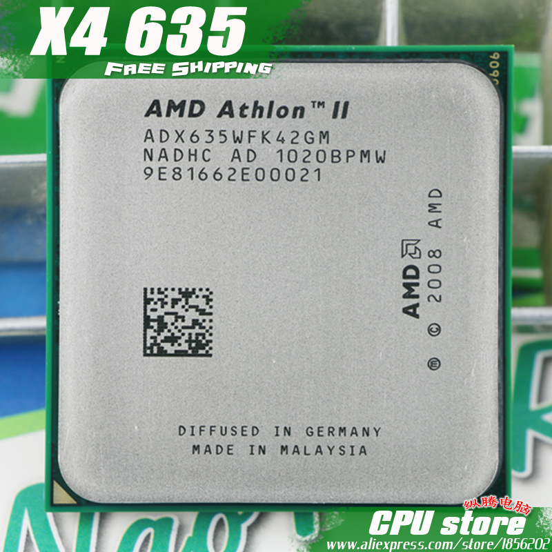 AMD Athlon II  X4 635 CPU Processor Quad CORE (2.9Ghz/ L2 2M /95W / 2000GHz) Socket am3 am2+ free shipping 938 pin  sell X4 640-in CPUs from Computer & Office