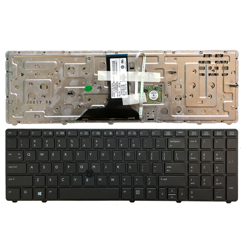 US laptop Keyboard for HP EliteBook 8760w <font><b>8770w</b></font> 701454-001 6037B0081325 With pointing stick image