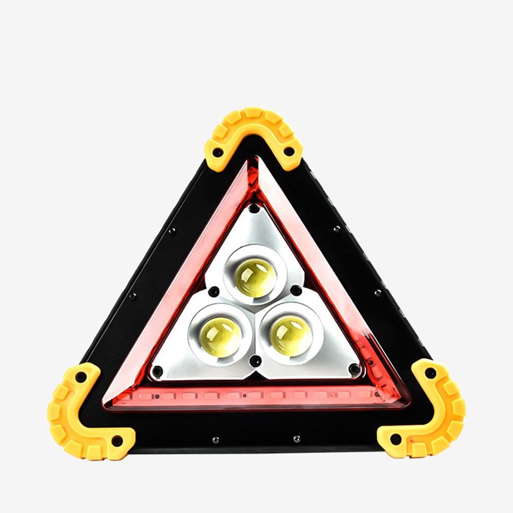 Solar + Usb Charging Multi-functional Tripod Warning Lamp Cob Work Lamp Emergency Lighting For Car Yellow Corner