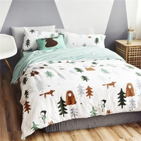 Twin Queen Size 4 Pcs Bedding Set Lovely Cartoon Pictures Printed 100 Cotton Cozy And Cute