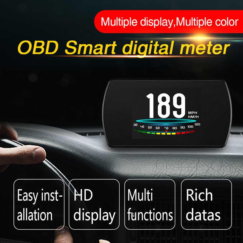 BigBigRoad 車 OBDII 2 HUD ヘッドアップディスプレイスピードウインドスクリーンプロジェクターマツダ MX5 2 3 5 6 アテンザ CX5 CX8 CX3 CX-3 CX4 CX-7