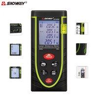 SNDWAY Laser Range Finder 40M Digital Distance Meter Tape Area Volume Angle Measure Laser Rangefinder Construction