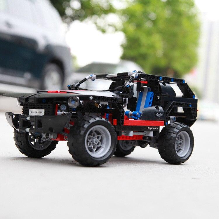 Mylb transport cruiser suv 589 stücke rennwagen modell baustein pädagogische diy ziegel spielzeug