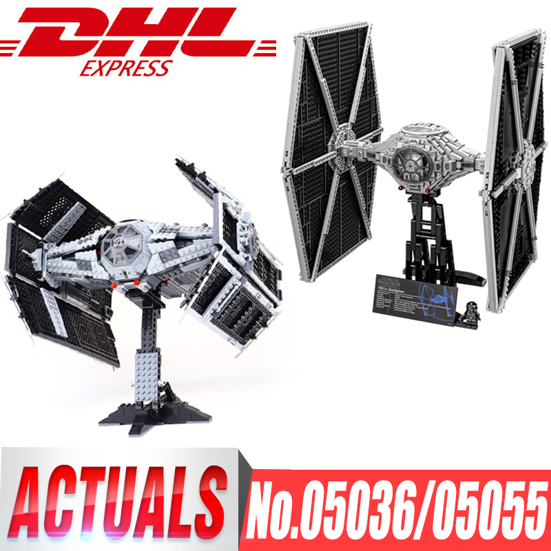 LEPIN 05055 05036 STAR Toy Vader TIE Advanced Fighter WARS Aircraft Model Children Building Blocks Bricks legoingls 75095 10175 new 1685pcs lepin 05036 1685pcs star series tie building fighter educational blocks bricks toys compatible with 75095 wars