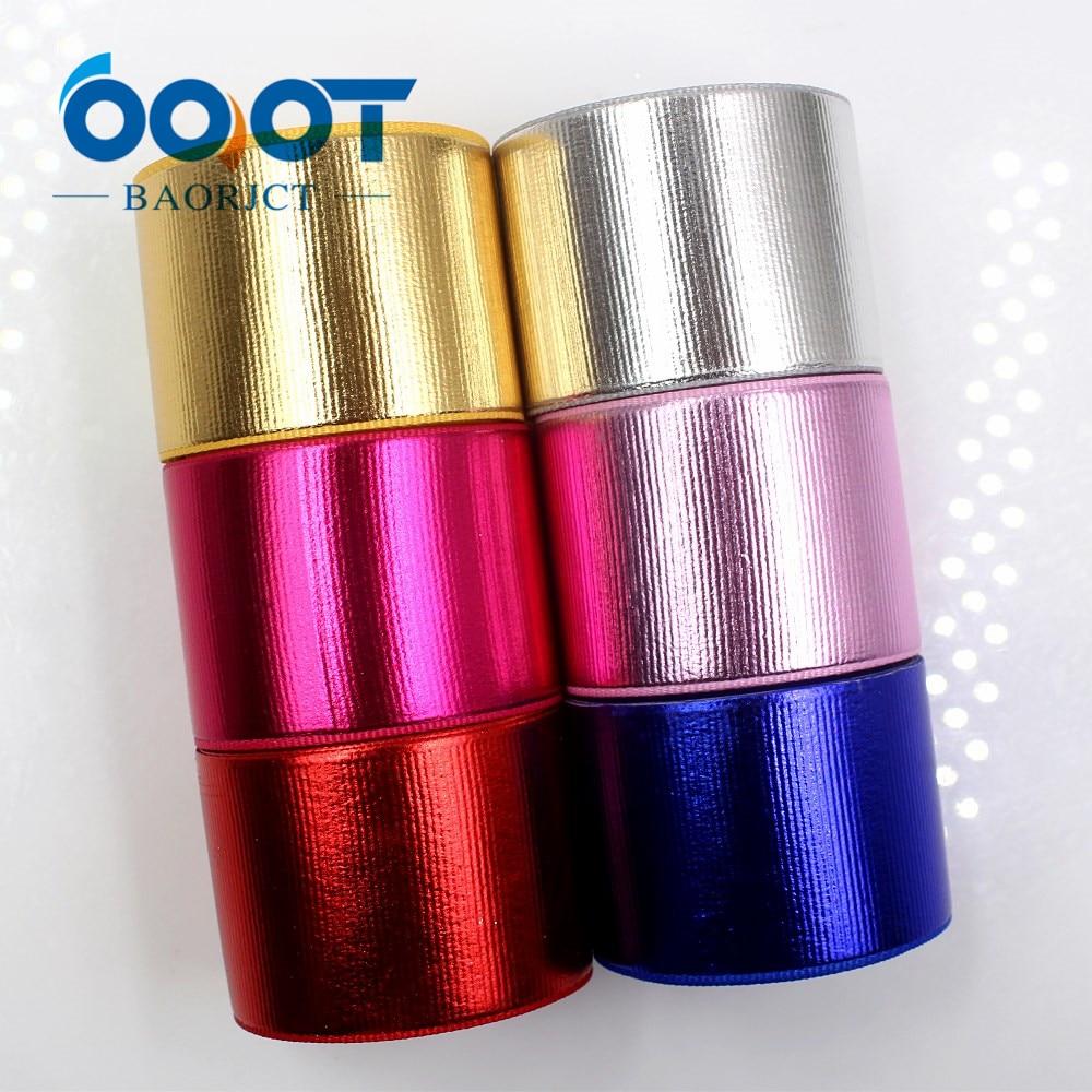 OOOT BAORJCT G-181027-1435, мм 38 мм 10 ярдов сплошной цвет лазерной grosgrain ленты, свадебные украшения, рукоделие Подарочная упаковка МАТЕРИАЛЫ