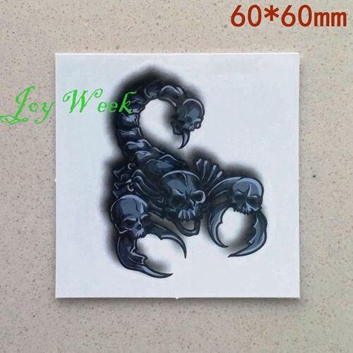 Waterproof Temporary Tattoo Sticker On Body Scorpion Tattoo Skull
