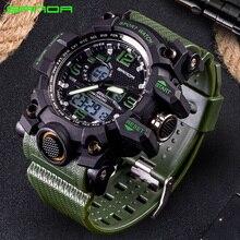 SANDA, военные часы, водонепроницаемые, спортивные часы, мужские, светодиодный, цифровые часы, лучший бренд, роскошные часы, для кемпинга, дайвинга, relogio masculino