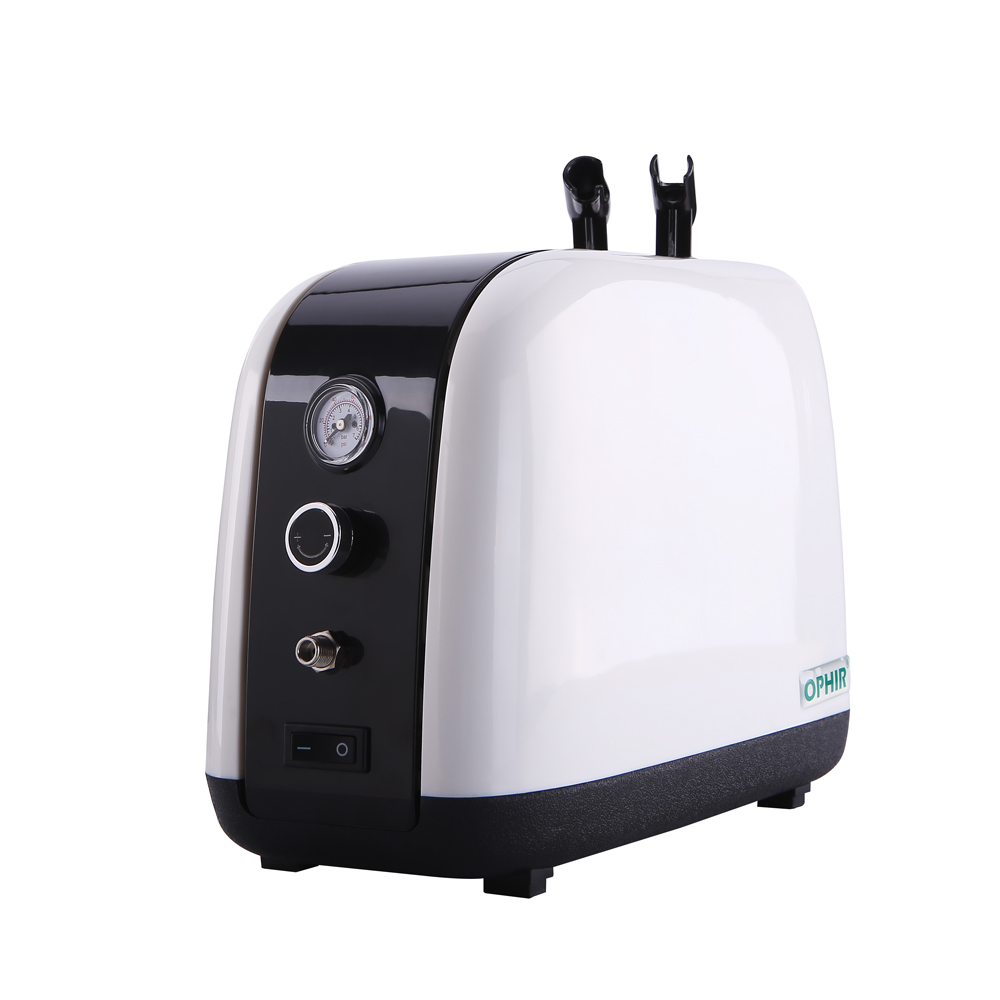 OPHIR Air Compressor for Body Paint Cake Decorate Tattoo Skin Care Mini Air Pump Professional Air Compressor with Tank AC057