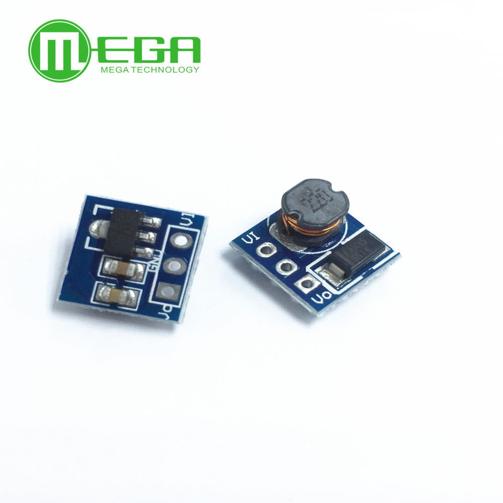5PCS DC DC 1.8V 2.5V 3V 3.3V 3.7V To 5V Step Up Power Supply Voltage Boost Converter Board Module Regulator 18650 Li-on Batery