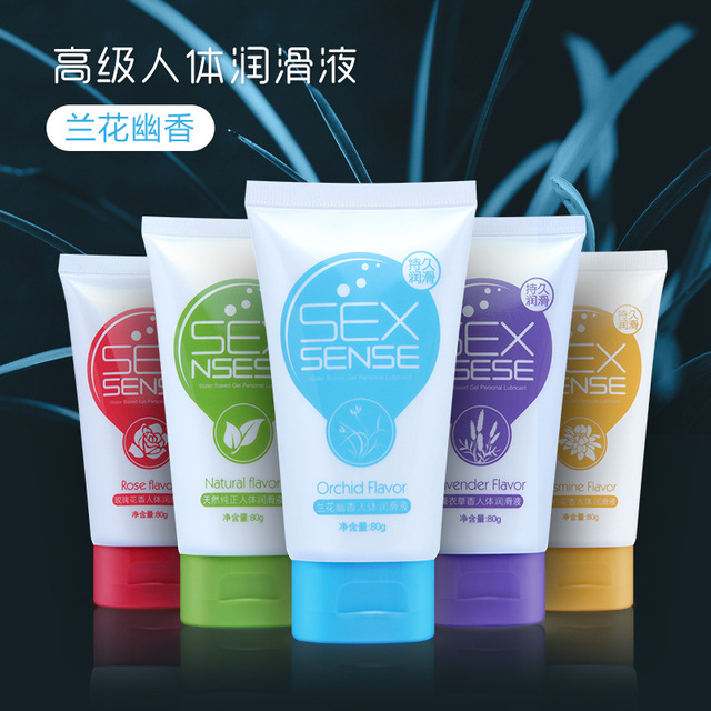 Five flavors Water-Based Anal Sex Lubricant body Massage Oil Masturbation Grease Sex Lube Oral Vaginal Gel 80ML Sex products