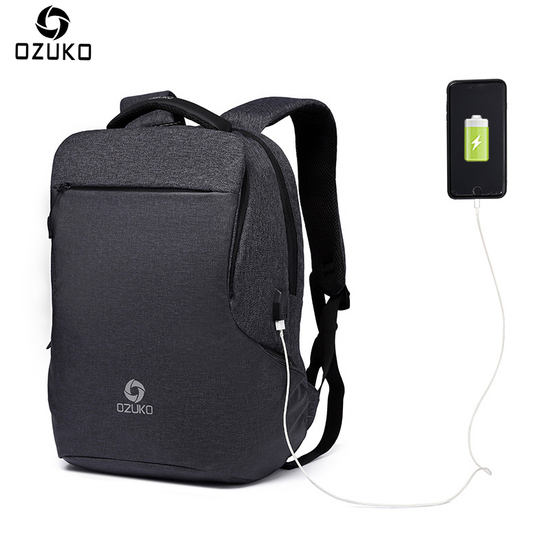OZUKO New Business Travel Multifunction Backpack Men Men's Fashion Casual Student School Bag USB Charge 15.6inch Laptop Backpack new gravity falls backpack casual backpacks teenagers school bag men women s student school bags travel shoulder bag laptop bags