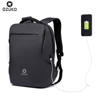 OZUKO New Business Travel Multifunction Backpack Men Men S Fashion Casual Student School Bag USB Charge