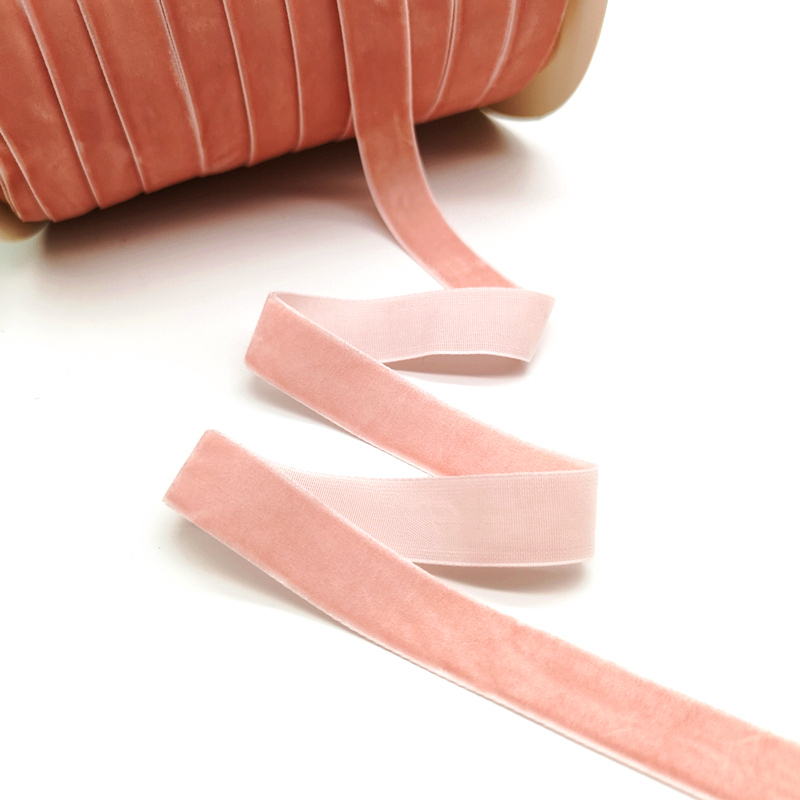 5 ярдов 6-25 мм бархатная лента для украшения свадебной вечеринки ручная работа лента для упаковки подарков бантик для волос DIY Рождественская лента - Цвет: Light Mauve