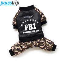 Cool FBI Ropa Para Perros y mascotas, Mono Para cachorro, Ropa cálida de invierno Para niños y Perros Ropa Para Perros