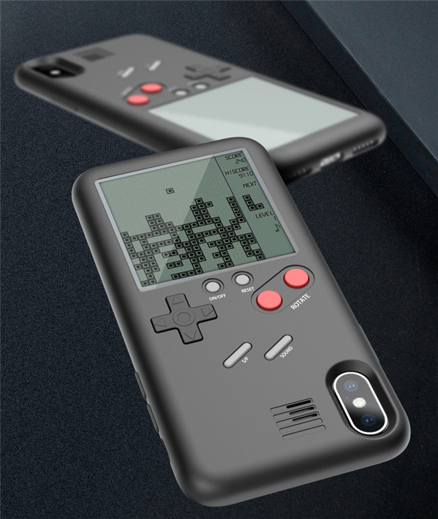 Novelty Mobile Phone Case Shell Tetris Classic Game Console Case Cover for iPhone 6/6s plus 7/8plus playing game