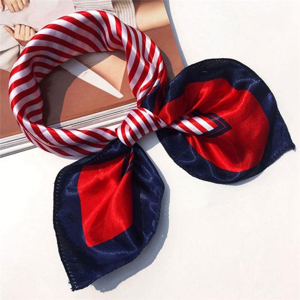 Soft Fashion Silk Square   Scarf     Scarves   Women's tie Bandanas Head   Wrap   Elegant Head Neck Shawl Silk   Scarf   Ladies Accessories