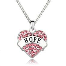 Love Hope Heart Necklace Bijoux Femme Colar Crystal Pendant Necklace Letter Choker Cheap Fashion Jewelry Christmas Gifts