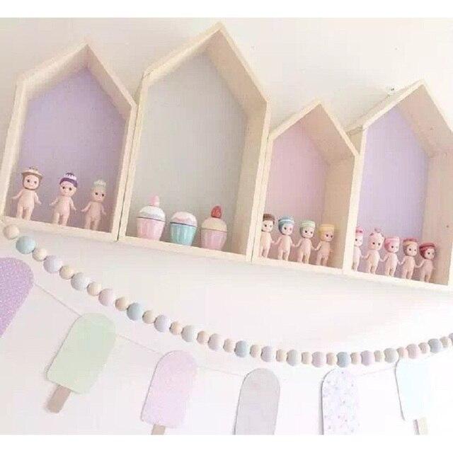 2 teile/satz Schöne 5 Farben Holz Dollhouses Kinder Baby Mädchen ...