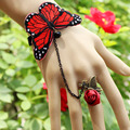 1PCS  Hot red butterfly lace bracelet  suit fashion bride  jewelry wholesale