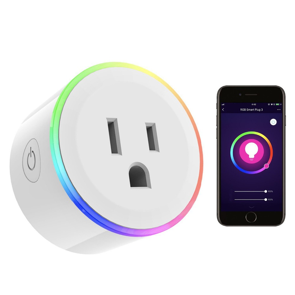 все цены на Smart Wifi Power Socket With LED US Smart Power Plug WIFI Wireless Timing Socket Compatible With Alexa Echo & Google Home