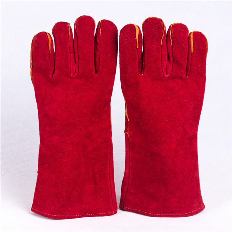 ANGOOD Super Wear-resisting Cow Leather Safety Gloves for Electric Soldering Welding Workplace Safety Supplies for Welding welder safety gloves workplace safety supplies security