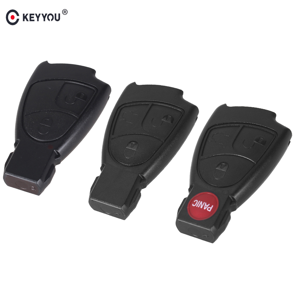 KEYYOU For Mercedes Benz B C E ML S CLK CL 2/3/4 3+1 Buttons Remote Car Key Shell Fob Smart Key Case Cover New Rreplacement